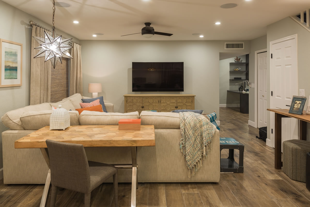 Gilbert the islands basement design and remodel interior for Basements in arizona