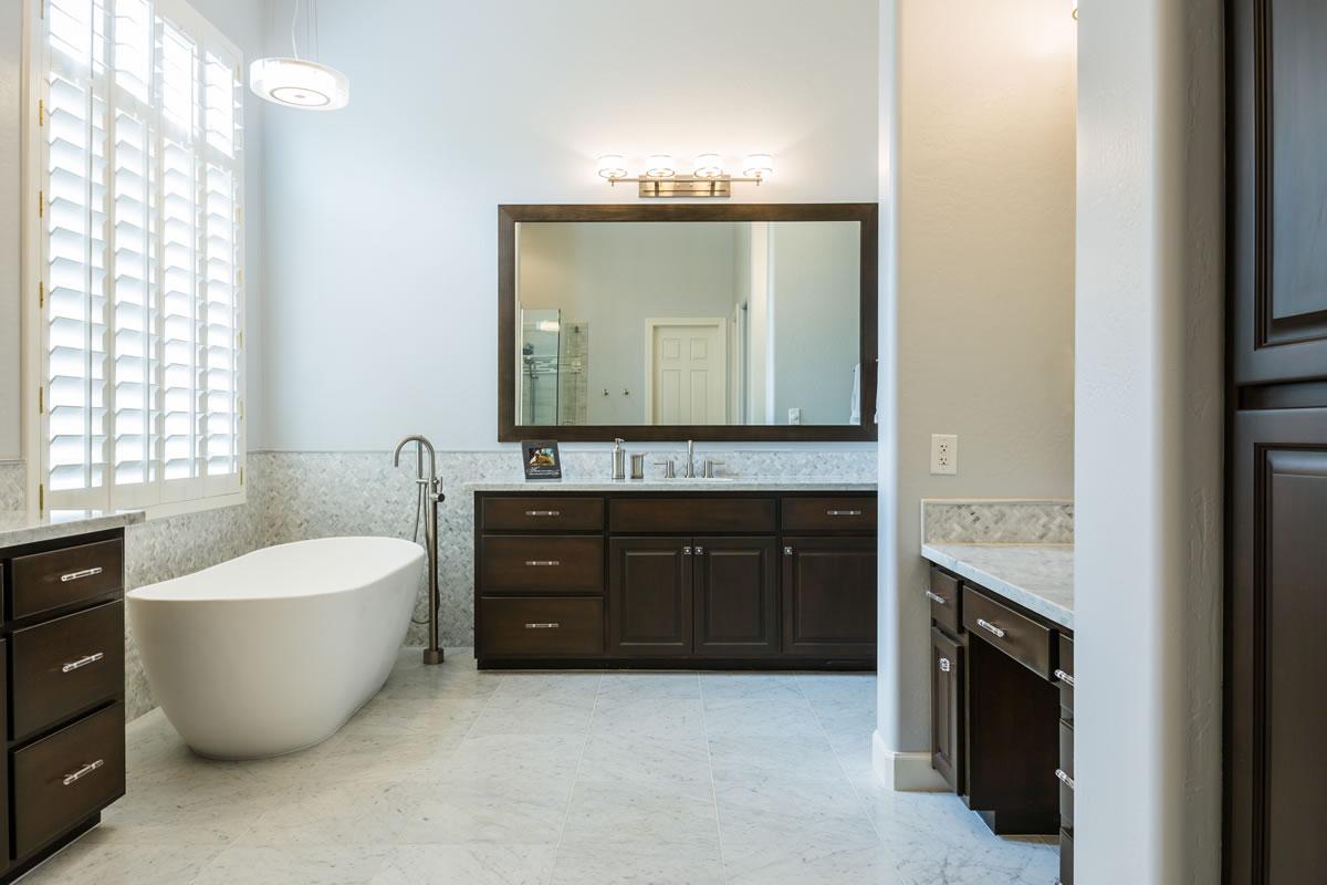 Scottsdale master bath remodel interior design by elle for Bath remodel scottsdale
