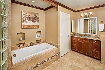 Gilbert Master Bath Remodel Interior Design By Elle Interiors - Gilbert bathroom remodeling